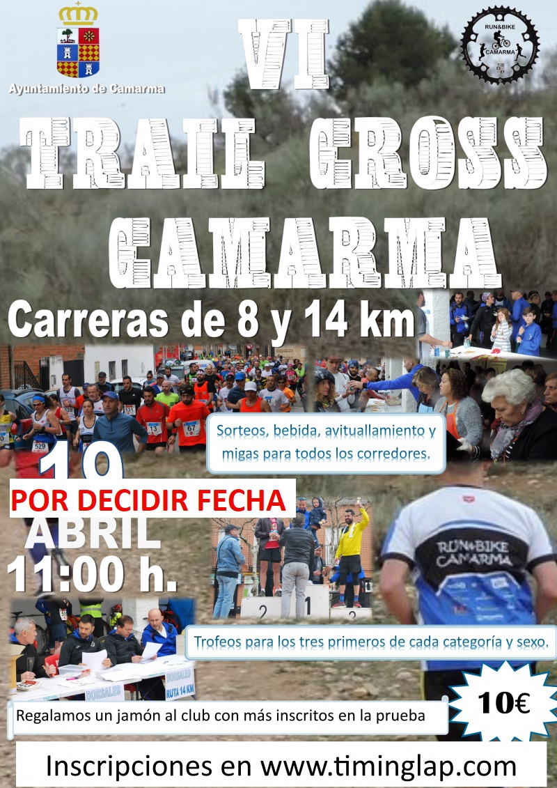 VI TRAIL CROSS  DE CAMARMA - Inscríbete