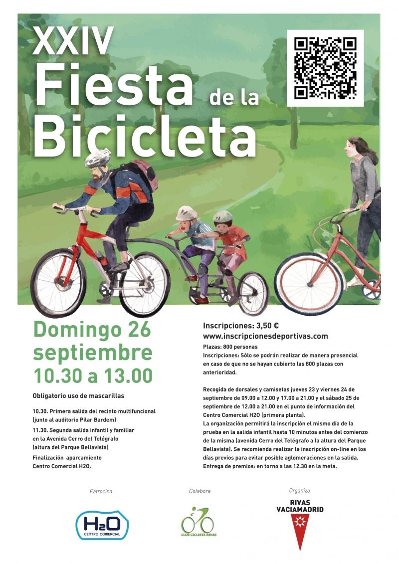 XXIV FIESTA DE LA BICICLETA DE RIVAS - Inscríbete