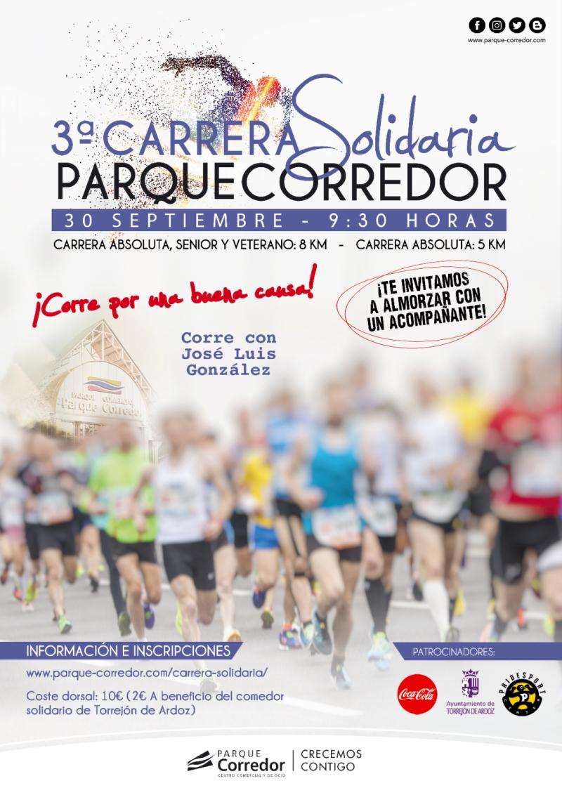 3ª CARRERA SOLIDARIA PARQUE CORREDOR - Inscríbete
