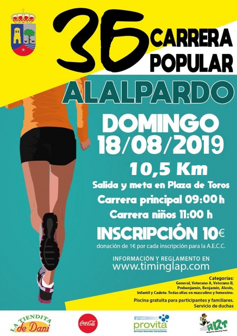 36 CARRERA POPULAR DE ALALPARDO - Inscríbete