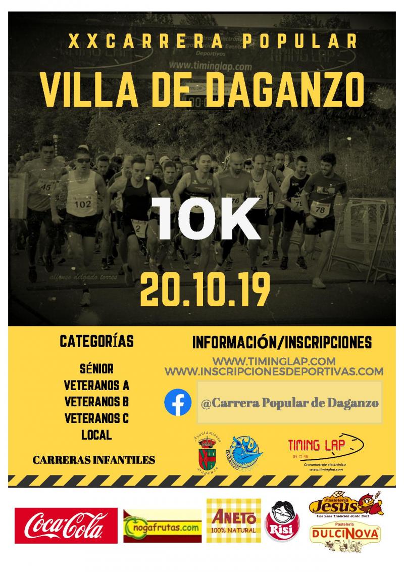 20 CARRERA POPULAR VILLA DE DAGANZO  10K  - Inscríbete