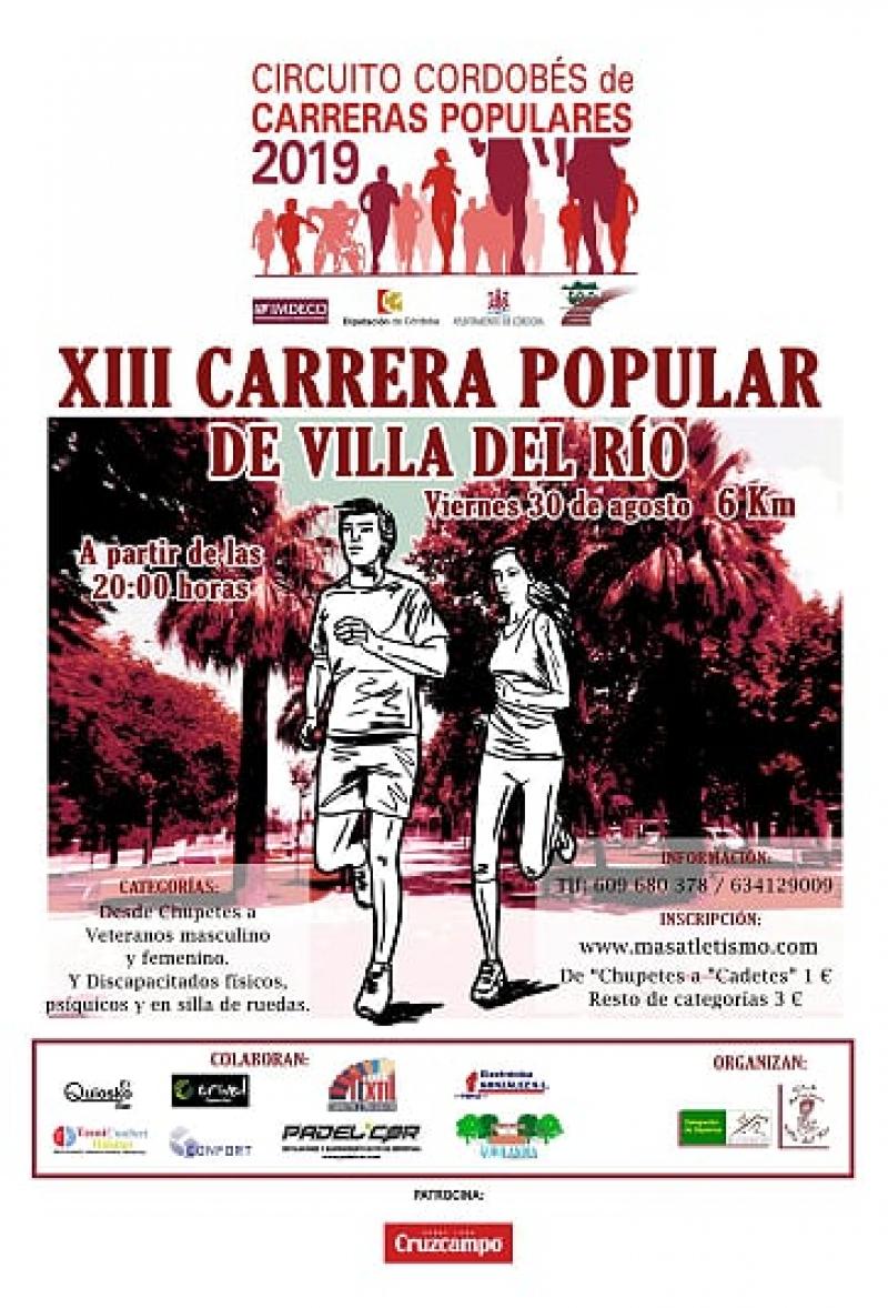 XIII CARRERA POPULAR DE VILLA DEL RIO - Inscríbete