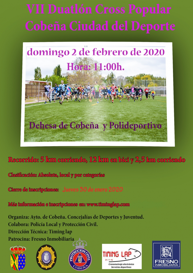Cartel del evento VII DUATLÓN CROSS POPULAR COBEÑA CIUDAD DEL DEPORTE
