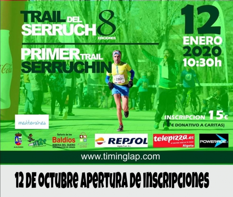 Cartel del evento TRAIL DEL SERRUCHO 8