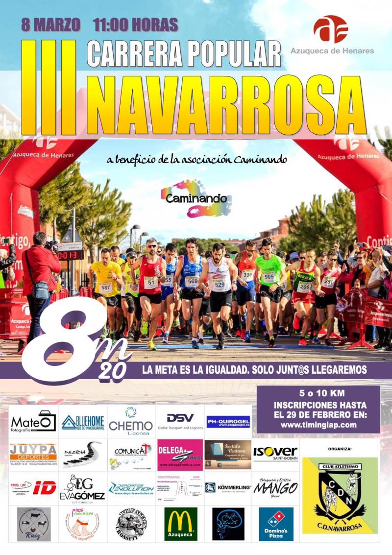 Cartel del evento III CARRERA SOLIDARIA POPULAR NAVARROSA