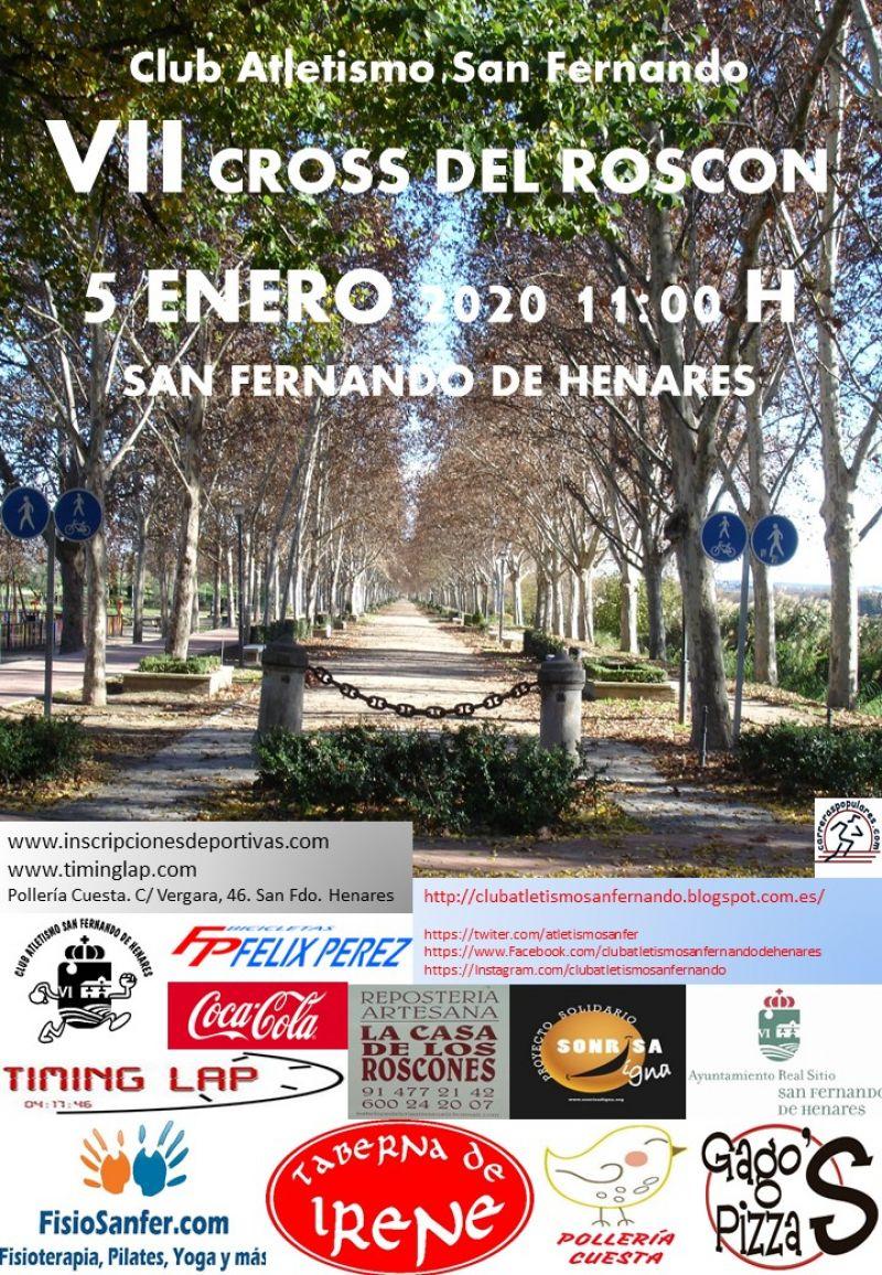 Cartel del evento VII CROSS DEL ROSCÓN DE SAN FERNANDO DE HENARES