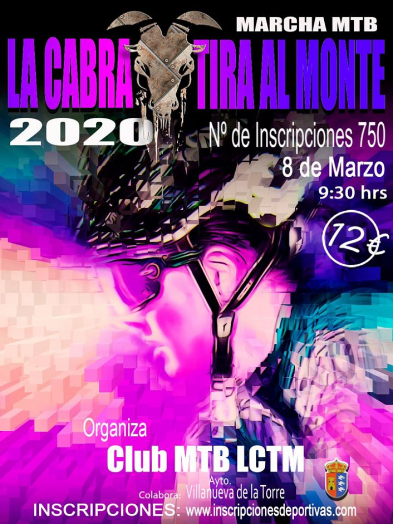 Cartel del evento MARCHA MTB LA CABRA TIRA AL MONTE  2020