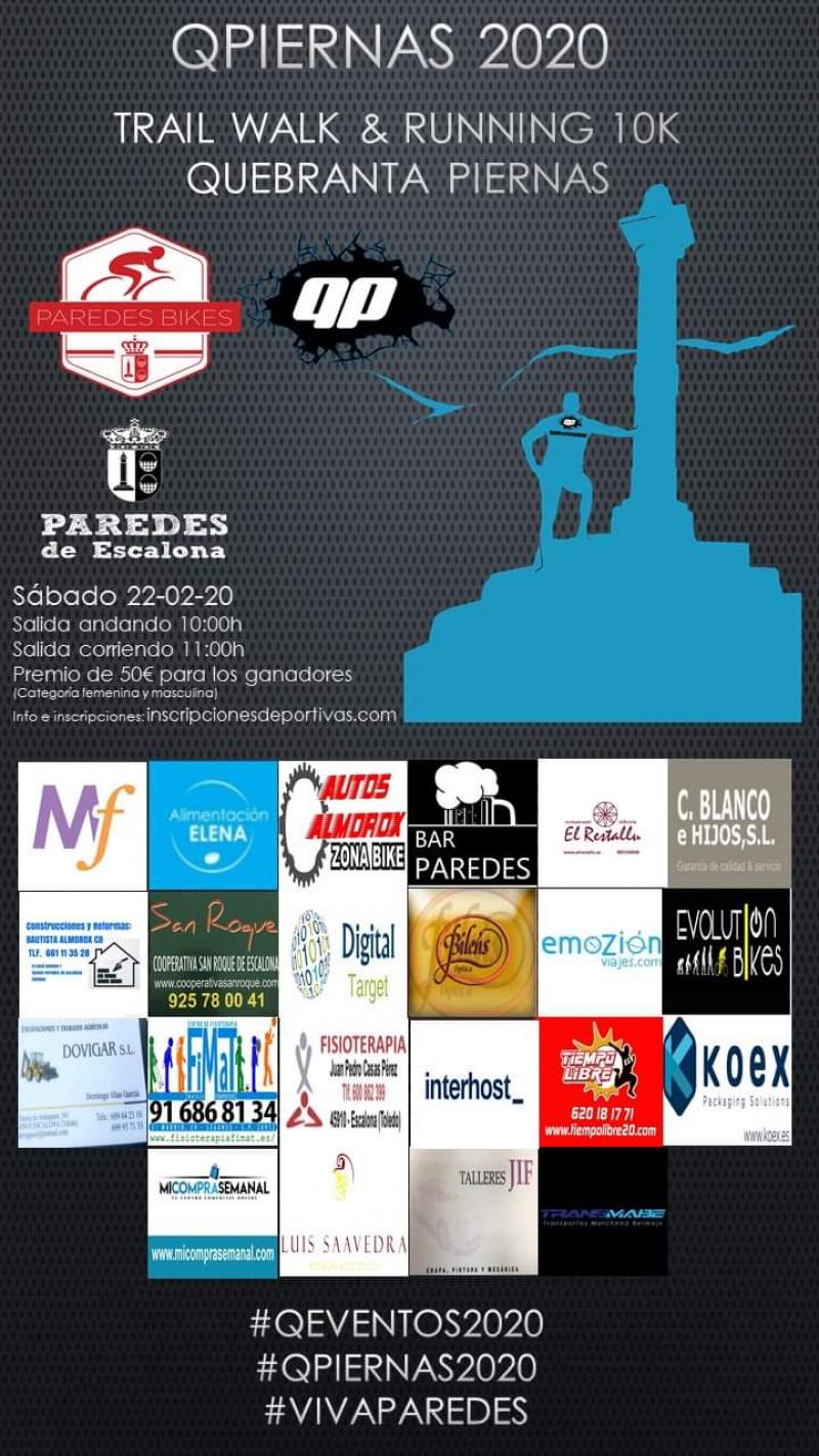 Cartel del evento TRAIL WALK & RUNNING 10K  QUEBRANTA PIERNAS