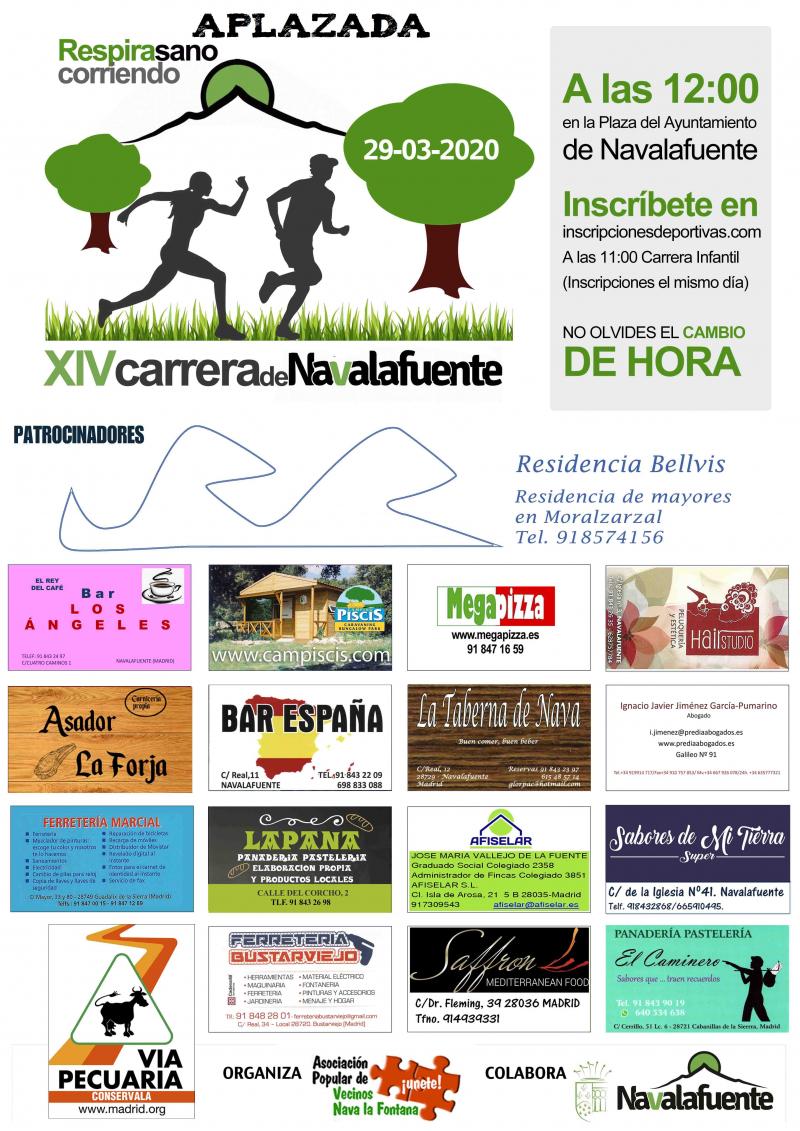 Cartel del evento XIV CARRERA DE FONDO DE NAVALAFUENTE