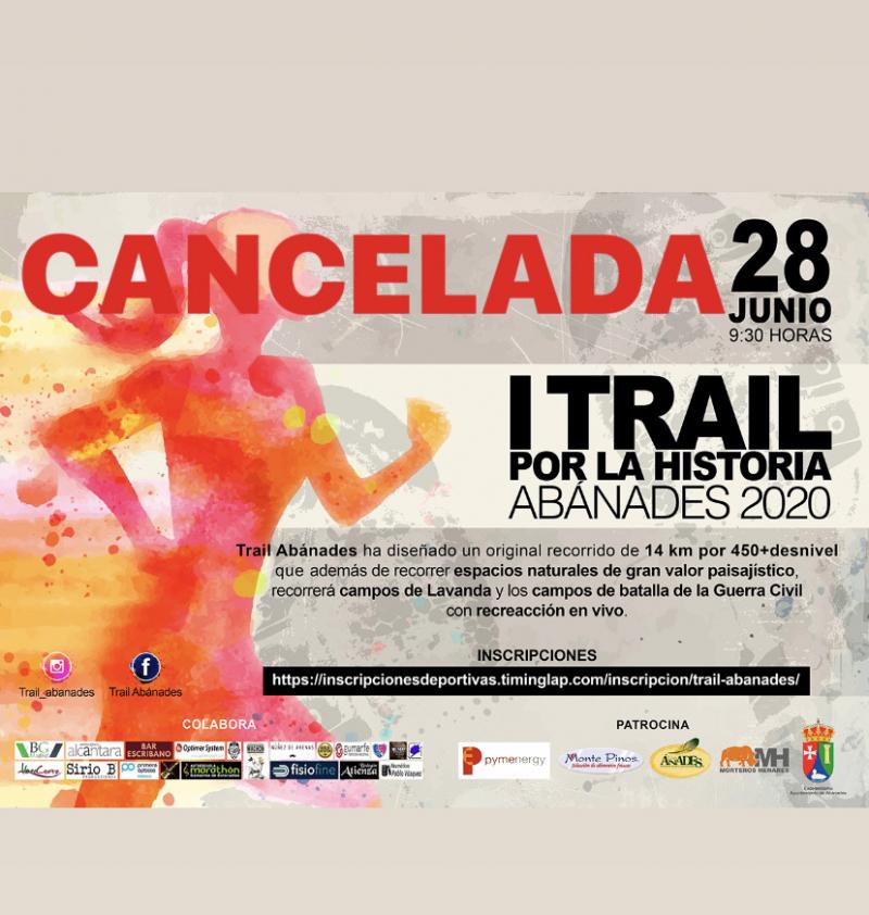 Cartel del evento I TRAIL POR LA HISTORIA, ABÁNADES