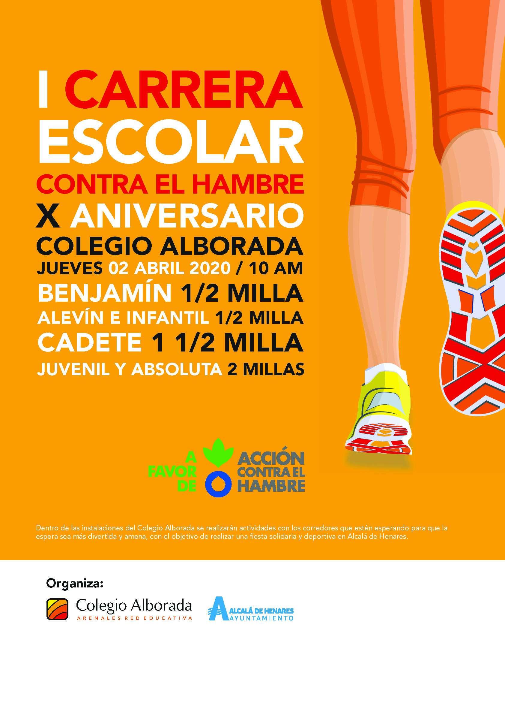 Cartel del evento I CARRERA ESCOLAR COLEGIO ALBORADA