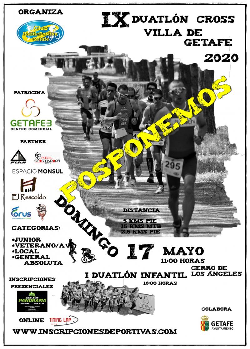 Cartel del evento IX DUATLÓN CROSS VILLA DE GETAFE