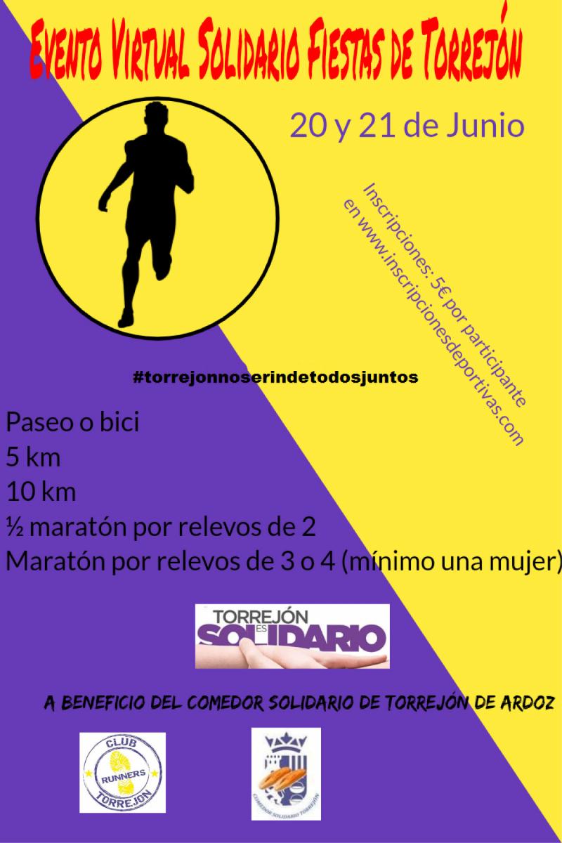 Cartel del evento EVENTO VIRTUAL SOLIDARIO FIESTAS DE TORREJÓN