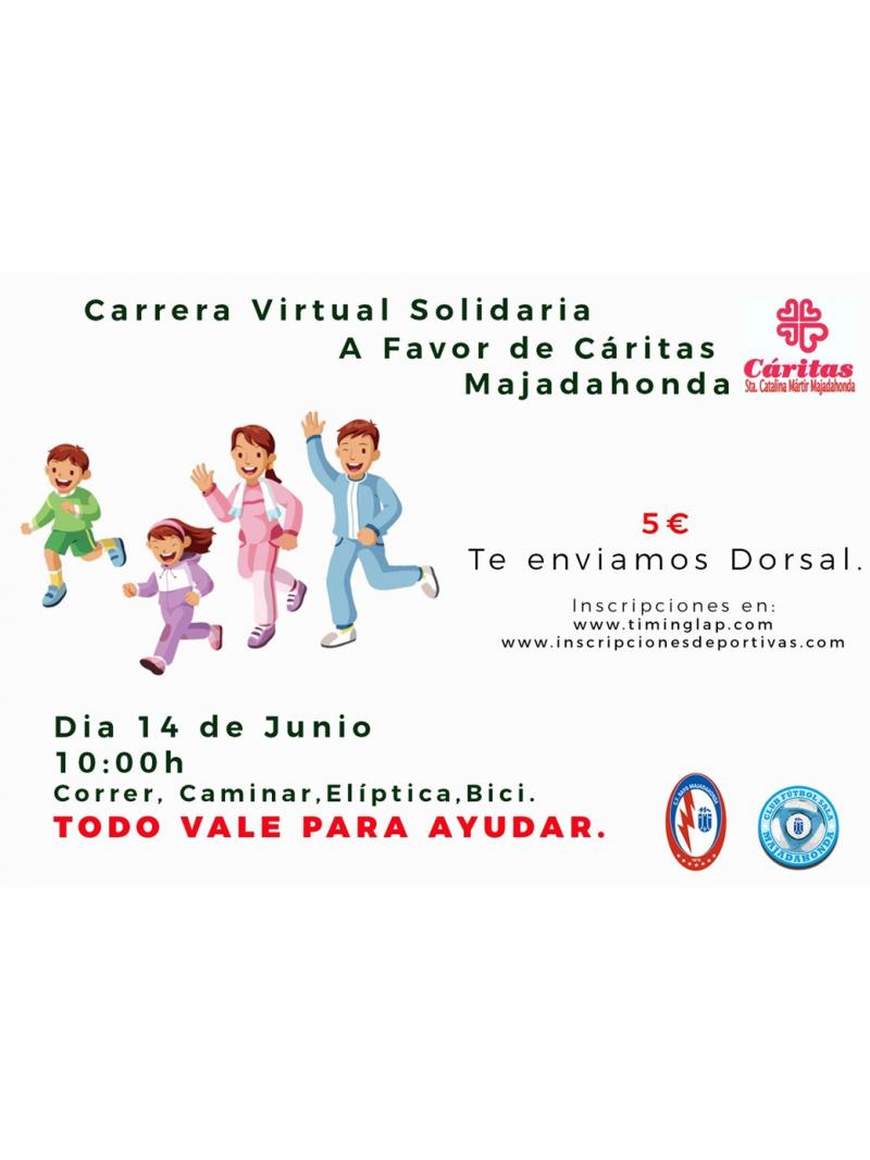 Cartel del evento CARRERA VIRTUAL SOLIDARIA CÁRITAS MAJADAHONDA