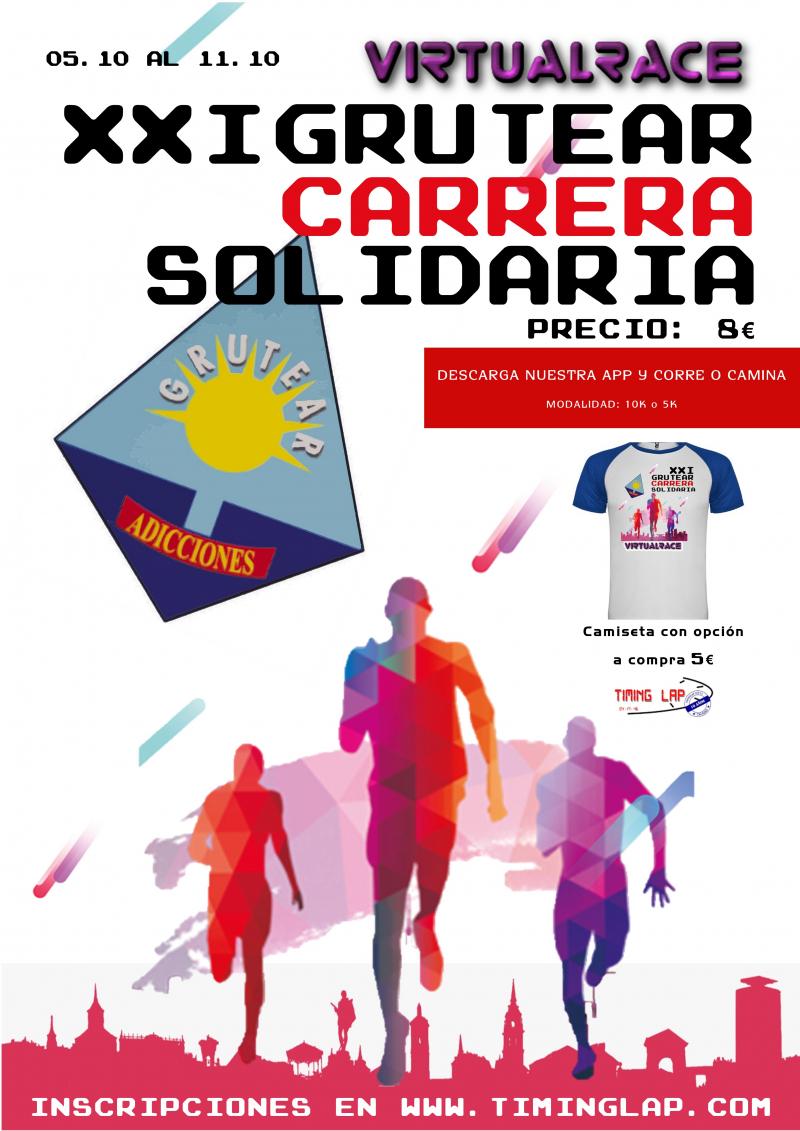 Cartel del evento XXI CARRERA SOLIDARIA VIRTUAL GRUTEAR
