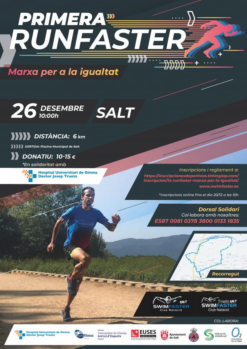 Cartel del evento 1A RUNFASTER  MARXA PER LA IGUALTAT.