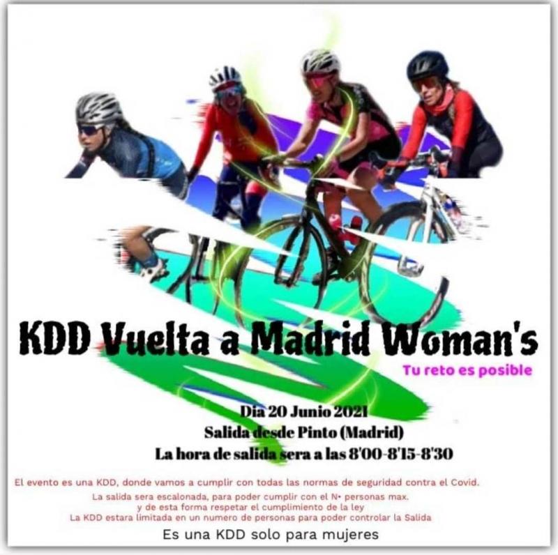 Cartel del evento EL RETO KDD VUELTA A MADRID WOMAN