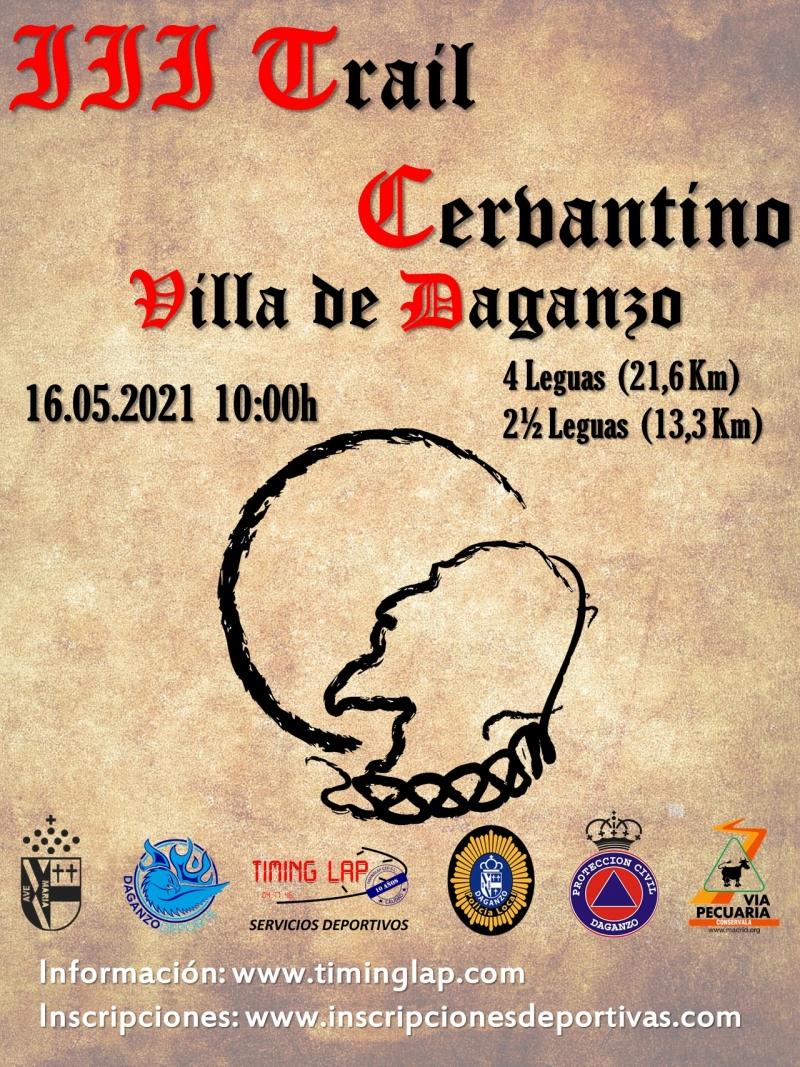 Cartel del evento III TRAIL CERVANTINO VILLA DE DAGANZO