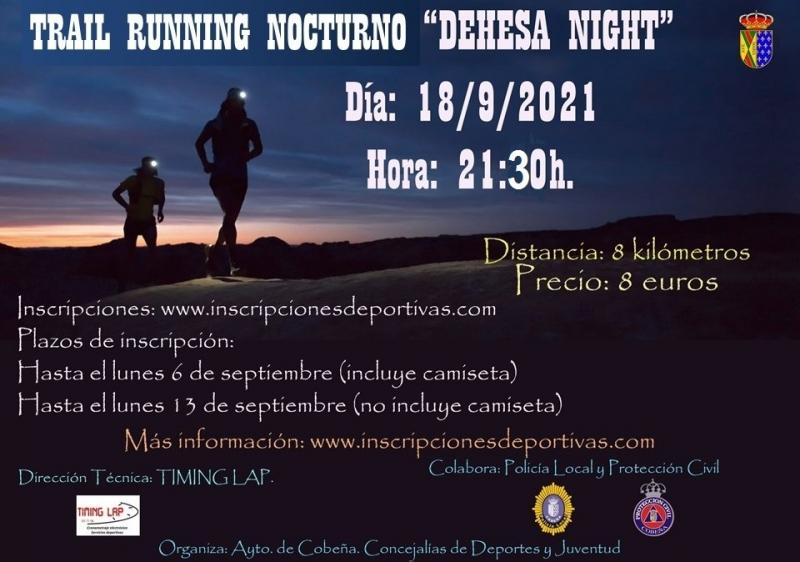 Cartel del evento DEHESA NIGHT COBEÑA 2021