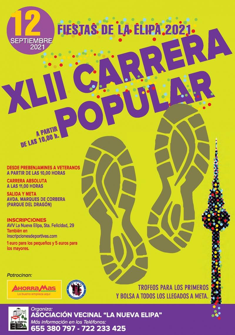 Cartel del evento 42 CARRERA POPULAR FIESTAS DE LA ELIPA
