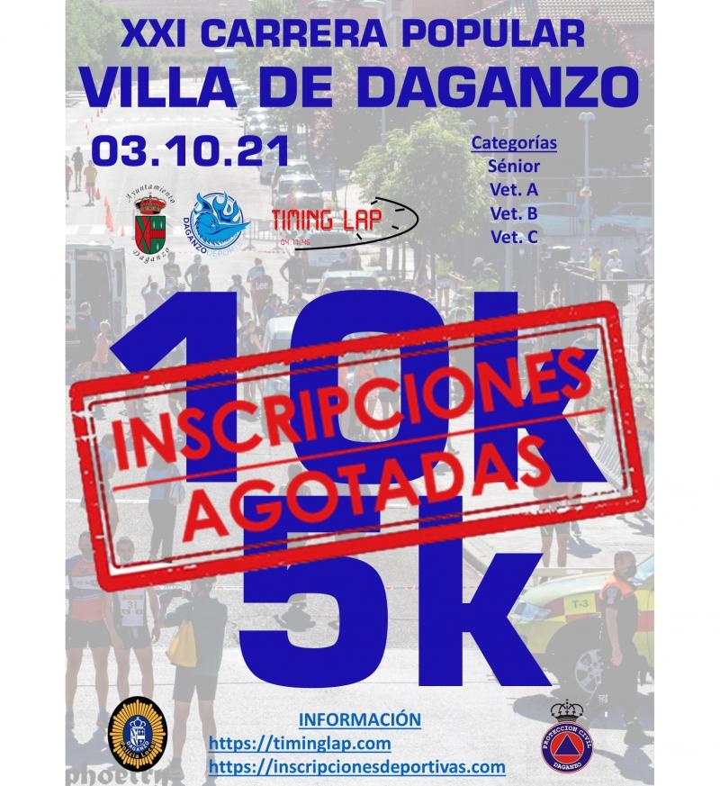 Cartel del evento 21 CARRERA POPULAR VILLA DE DAGANZO  10K