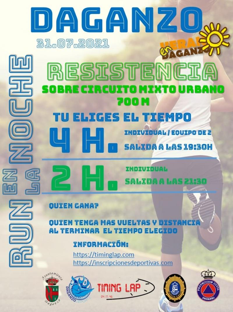 Cartel del evento 4H RUN EN LA NOCHE VILLA DE DAGANZO