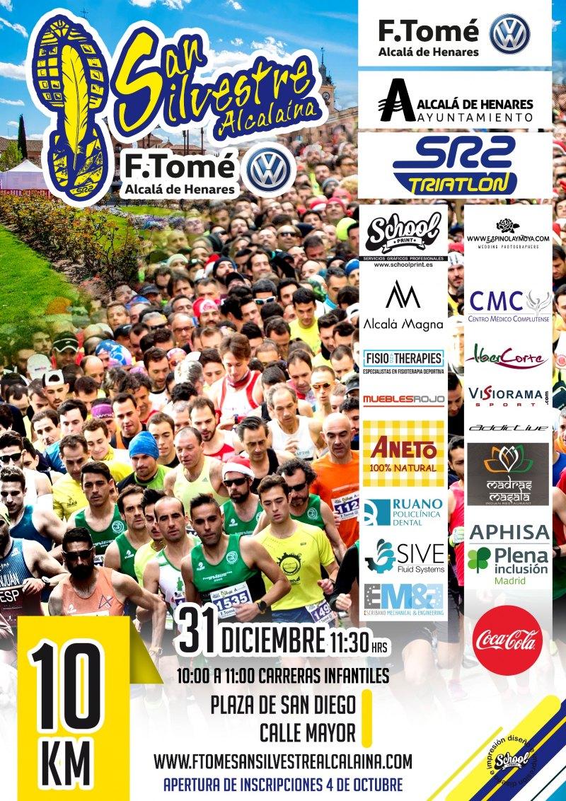 Cartel del evento F TOMÉ, SAN SILVESTRE ALCALAINA