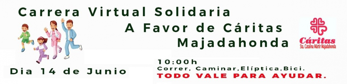 CARRERA VIRTUAL SOLIDARIA CÁRITAS MAJADAHONDA